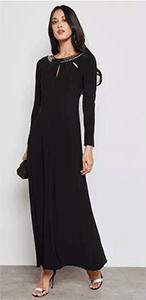 خصم نمشى يصل الى 40% على الفستان الاسود المطرز ماركة والس الانجلزية اأصلية :: نمشي دوت كوم Namshi