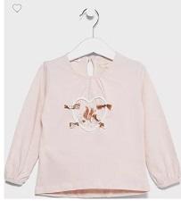 خصم حتى 25% من نمشى كوم على التيشيرت البناتى الوردى الرائع المزين بقلب  ماركة Mango العالمية الأصلية :: نمشي دوت كوم Namshi